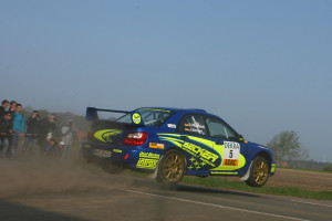 Top-Favorit auf den Sieg in Niedersachsen: Jan Becker / Bianca Hutzfeldt im Subaru Impreza. Foto: ADAC
