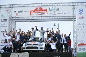 Sébastien Ogier und Volkswagen dominieren weiter die Rallye-Weltmeisterschaft. Foto: Volkswagen