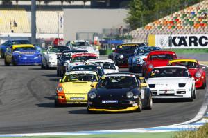 Oliver Dutt (Porsche 993 Cup) gewinnt beide Rennen der PCHC. Foto: Patrick Holzer