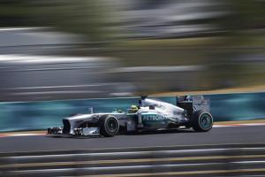 Nico Rosberg beim freien Training in Budapest. Foto: Mercedes
