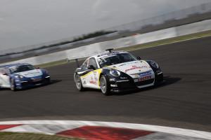Michael Christensen (DK) beim Porsche Mobil 1 Supercup auf dem Nürburgring. Foto: Porsche