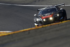 Audi R8 LMS ultra in Spa auf dem Podium. Foto Audi
