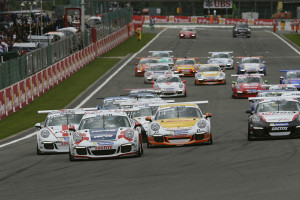 Start des Porsche Mobil 1 Supercup in Belgien. Foto: Porsche
