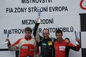 Podium 1.Lauf der Formel 3 (vl.-nr.) Smiechowski,Amweg,Tobler (Foto: Schindler) Copyright